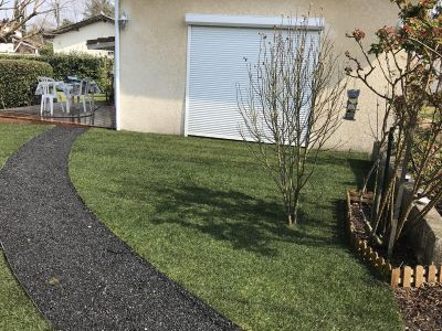 Transformation d'un dallage en terrasse bois